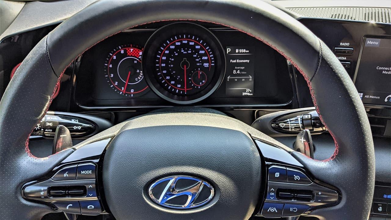 2021 Hyundai Elantra N Line gauge cluster