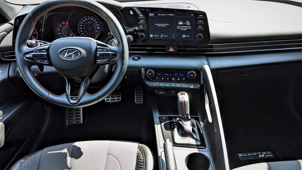 2021 Hyundai Elantra N Line interior 1