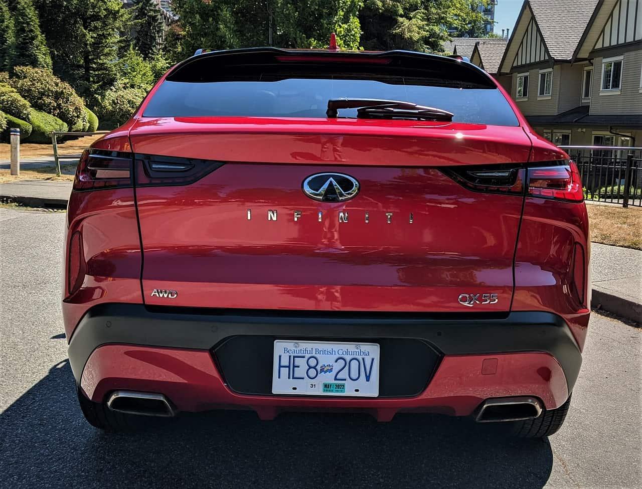 2022 Infiniti QX55 rear