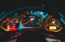 car dashboard gauge cluster