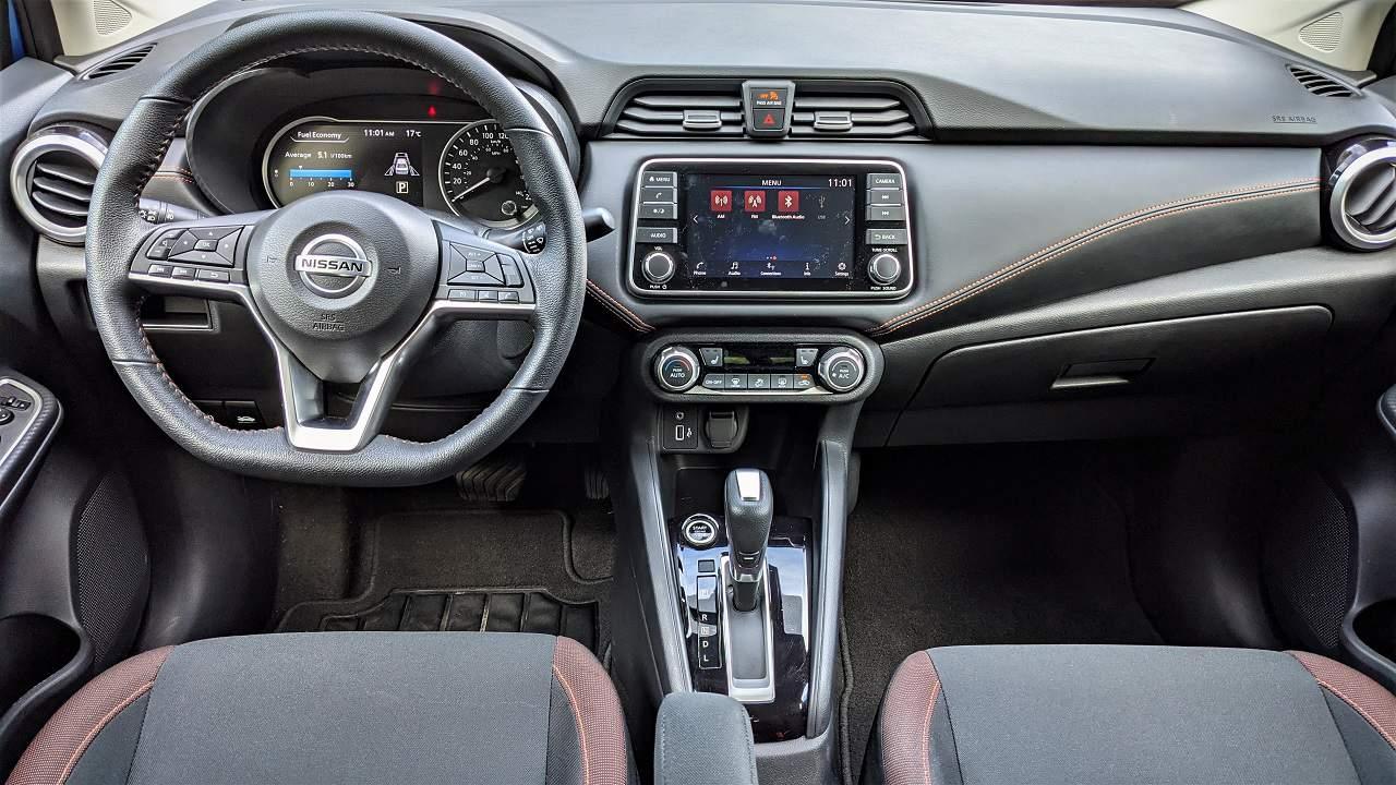 2021 Nissan Versa SR interior