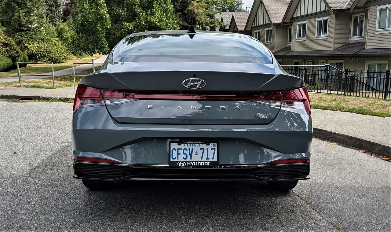 2022 Hyundai Elantra Hybrid back