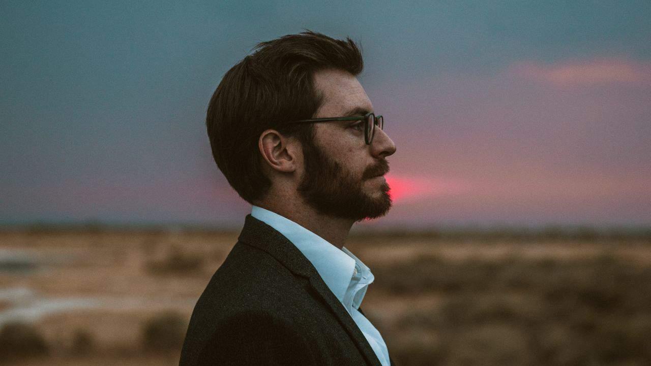 handsome man at dawn