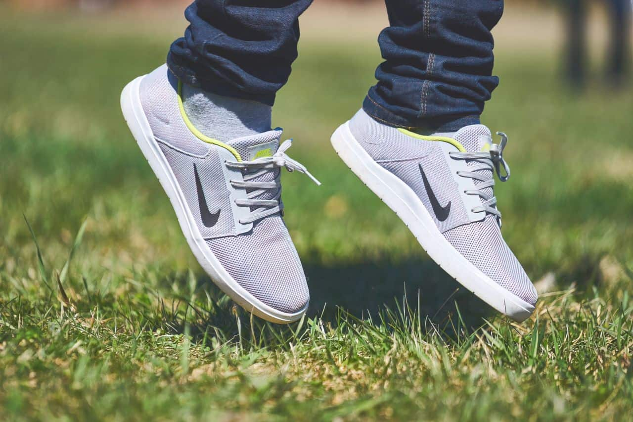 person wearing nike shoes