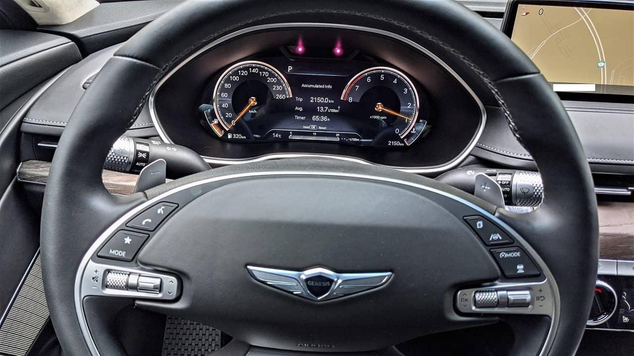 2021 Genesis G80 Prestige 3d gauges
