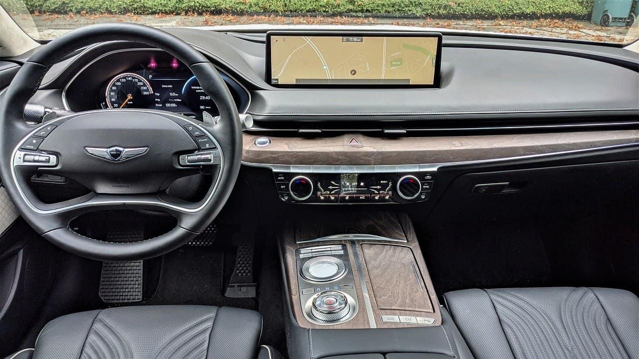 2021 Genesis G80 Prestige interior