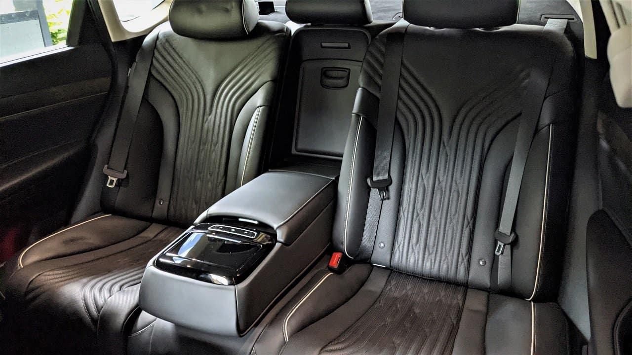 2021 Genesis G80 Prestige rear seats