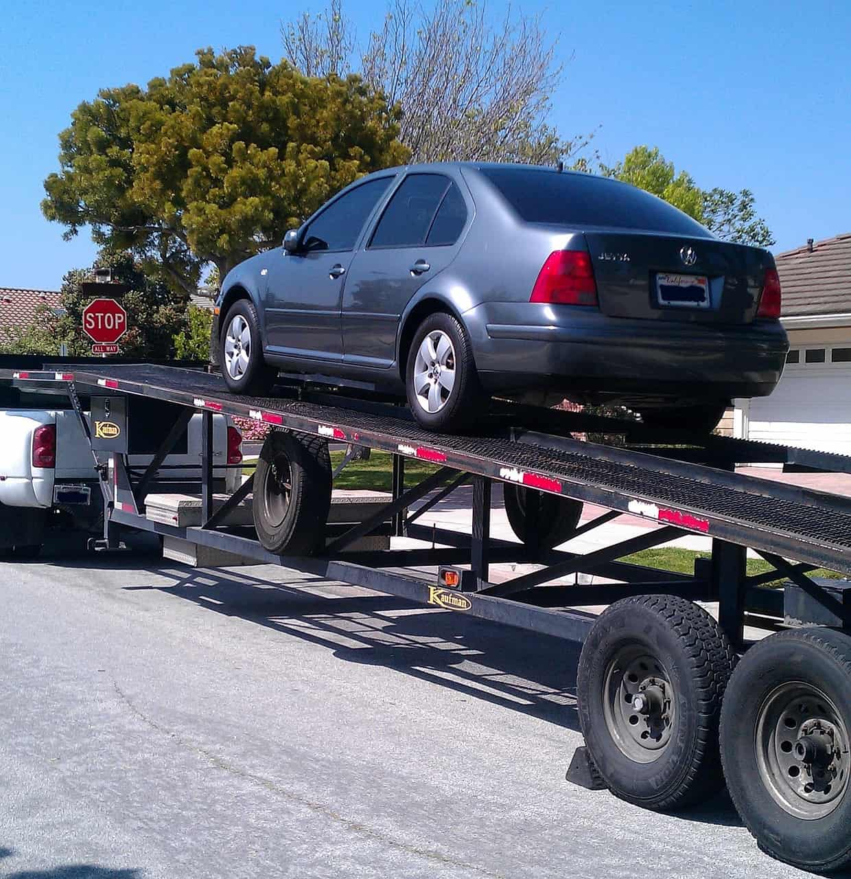 car being shipped