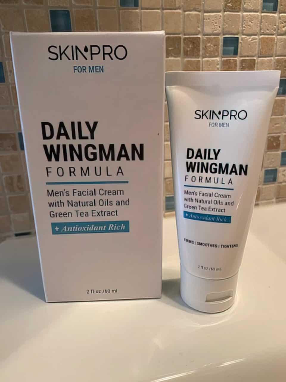daily wingman face cream for men