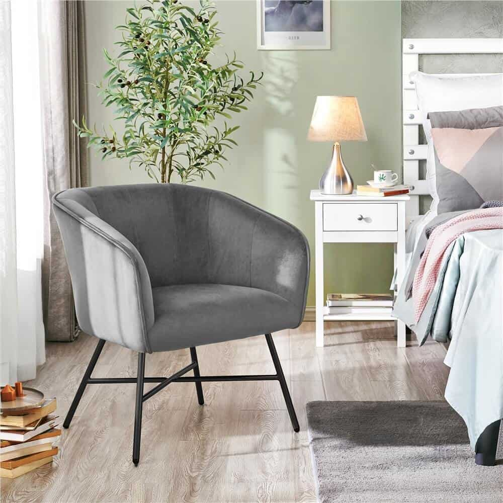 reading chair near a bed