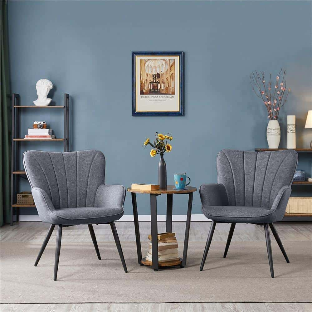 two wingback chairs